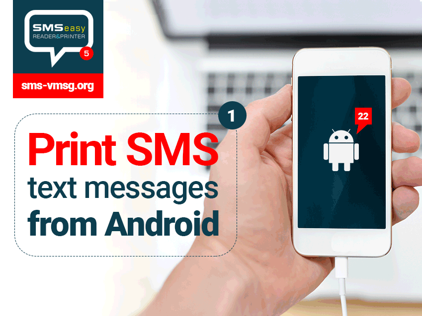 Print SMS messages from Android